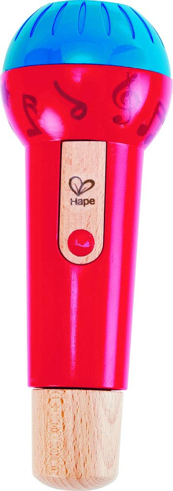 Hape Mighty Echo Microphone | Battery-Free Voice Amplifying Microphone Toy for Kids 1 Year & Up