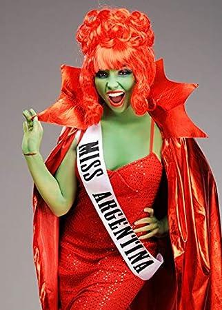 Magic Box Sable Beetlejuice Estilo Miss Argentina Sash: Amazon.es ...