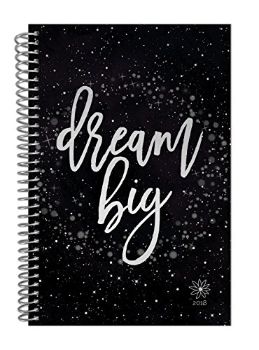 """bloom daily planners 2018 Calendar Year Daily Planner - Passion/Goal Organizer - Monthly Weekly Agenda Datebook Diary - January 2018 - December 2018 - 6"""" x 8.25"""" - Dream Big"""
