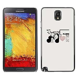 Be Good Phone Accessory // Dura Cáscara cubierta Protectora Caso Carcasa Funda de Protección para Samsung Note 3 N9000 N9002 N9005 // Music Notes Heart Love Girl Pen Art