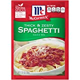 thick pasta sauce - McCormick Thick And Zesty Spaghetti Sauce Mix, 1.37 oz (Case of 12)