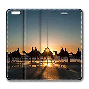 Brian114 iPhone 6 Plus case, iPhone 6 Plus Flip Case, iPhone 6 Plus Case Cover - PU Leather Flip Folio Wallet Case Cover for iPhone 6 Plus 5.5 inch - Camel Caravan