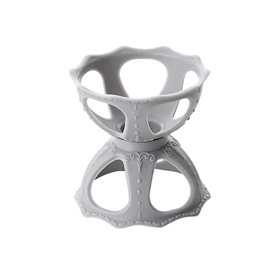 Storage Rack, Yezijin Makeup Blender Gourd Powder Puff Storage Rack Egg Sponge Drying Stand Holder (Gray)