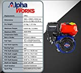 AlphaWorks Gas Engine 7HP 209cc Motor Horizontal
