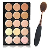 niceEshop Professional 15 Color Concealer Camouflage Makeup Palette (Concealer, 15 Colors)