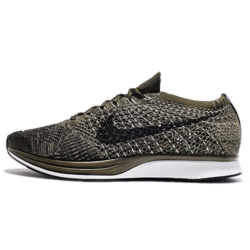 NIKE Mens Flyknit Racer, Rough Green/Black, 7 M US