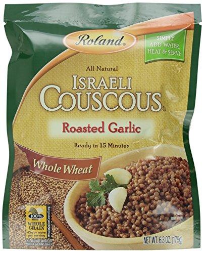 Roland Israeli Couscous, Whole Wheat Roasted Garlic, 6.3 Ounce