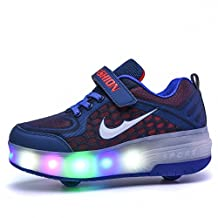 Boys Girls Roller Skate LED Sneaker Two Wheels Shoes For Kids Youth