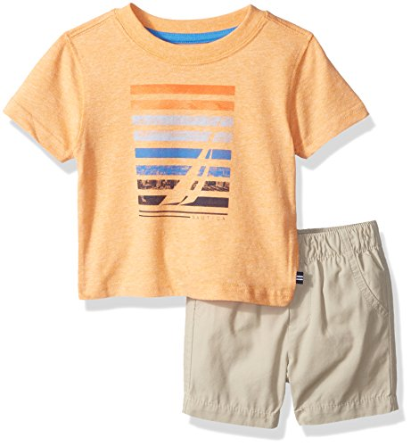 nautica-baby-boys-graphic-tee-and-pull-on-short-set-orange-18-months