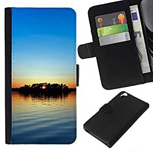 Stuss Case / Funda Carcasa PU de Cuero - Sunset Beautiful Nature 56 - HTC Desire 820