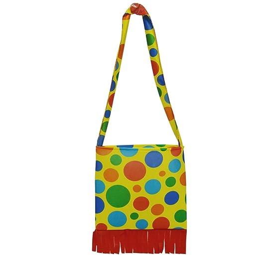 honeystore unisex clown costumes accessories jester halloween props shoulder bag