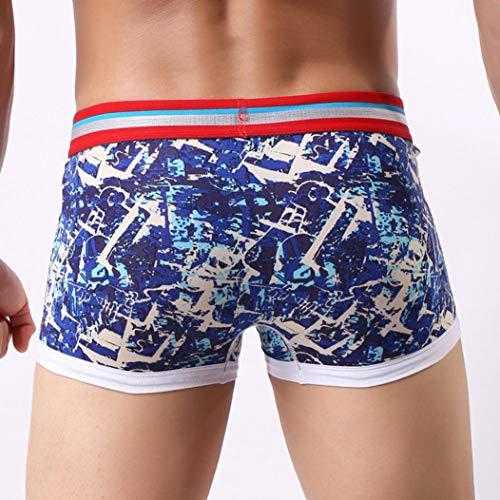 Mode Slip Aimee7 Bleu Foncé vêtements Imprimé Sous Culotte Homme Respirant Caleçons Hipster Boxer BBFwX