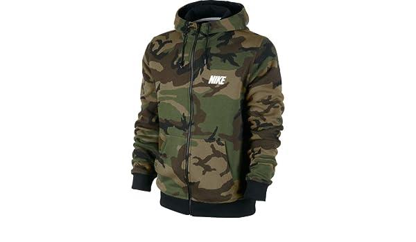 affordable price pick up classic Amazon.com: Nike Men's Club Zipper Hoodie Woodland Camo ...