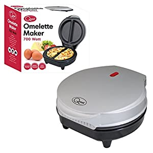 Dual Omelette Maker Electric – Easy Clean Non-Stick Cooking Plate – Makes Healthy Omelettes, Scrambled & Fried Eggs – Featuring Ready Indicator Light & Cool Touch Handle