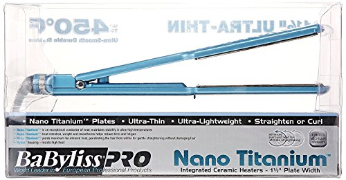 """BaBy liss PRO Hair Straightener 1.5"""" Nano Titanium Ceramic Flat Iron Ultra Thin"""