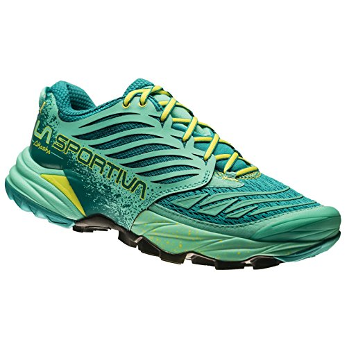 LA SPORTIVA AKASHA - WOMAN SS17 - EMERALD/MINT - MOUNTAIN RUNNING