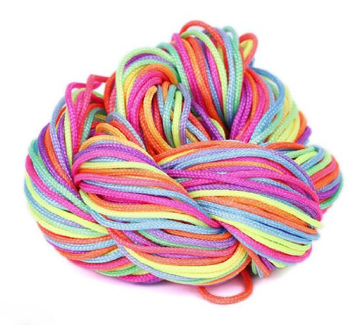 Orien Rainbow Dia of 1mm27 Metr Spool Nylon Macrame Cords Thread String Rope Strape Beading Rattail for DIY Shamballa Braided Jewelry Bracelet Chinese Knot by Orien (Shamballa Rope)