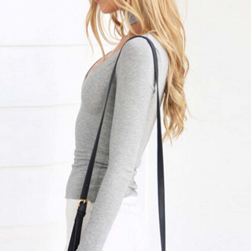 Mujer blusa otoño,Sonnena ❤ Blusa de manga larga casual mujer otoño Slim Solid Camisetas Blusa Tops: Amazon.es: Hogar