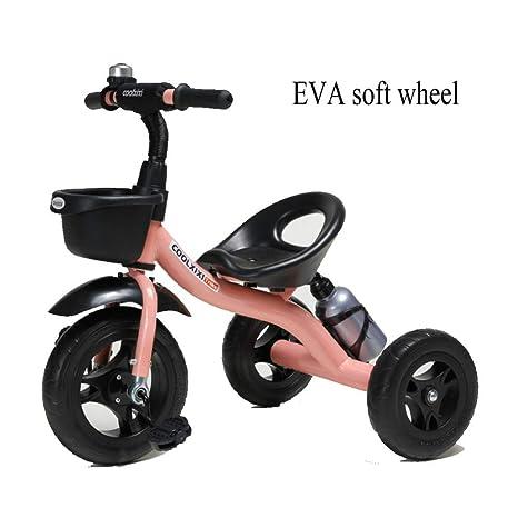 GSDZSY - Triciclo Bicicleta De 3 Ruedas para Niños, Cuerpo De Acero Al Carbono,