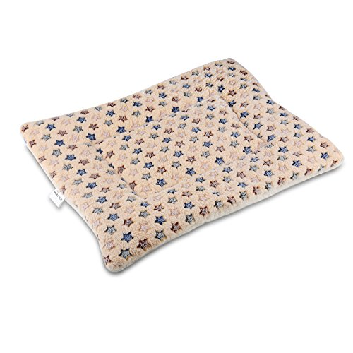 Fleece Crate Pad (Mora Pets Ultra Soft Pet (Dog/Cat) Bed Mat with Cute Prints | Reversible Fleece Crate Pad| Machine Washable Pet Bed Liner (22-Inch, Brown))