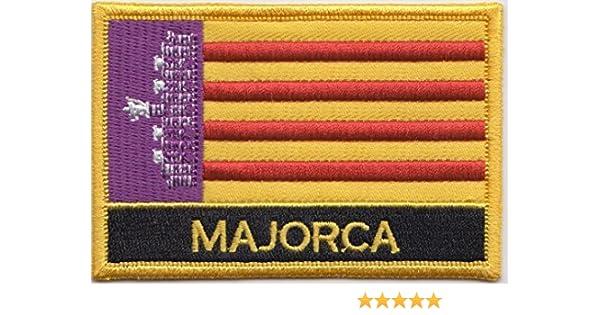 Parche rectangular bordado con la bandera española de las Islas Baleares Mallorca: Amazon.es: Jardín