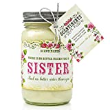scentiments sister gift candle cinnamon scented fragrance 16oz