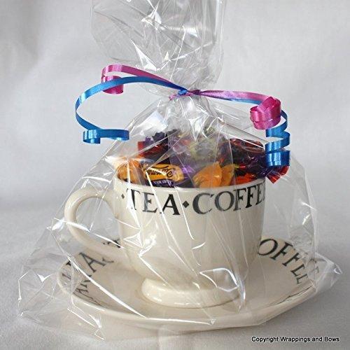 Extra grandes bolsas con fuelles celofán claro del regalo de ...