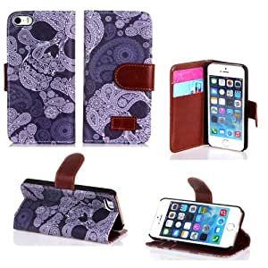 iphone 5 leather cases,Luxury Fashion PU Leather Magnet Wallet Creadit Card Holder Flip Case Cover for Apple iPhone 5 5G 5S