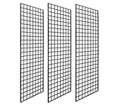 Only Hangers 1898b Only Panel Perfect Metal Retail Display, 2'x 5', 3 Grids Per Carton (Black)