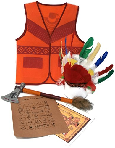 Auberge Kids Costumes Pretend Dress Up Role Play Sets (Indian) ()