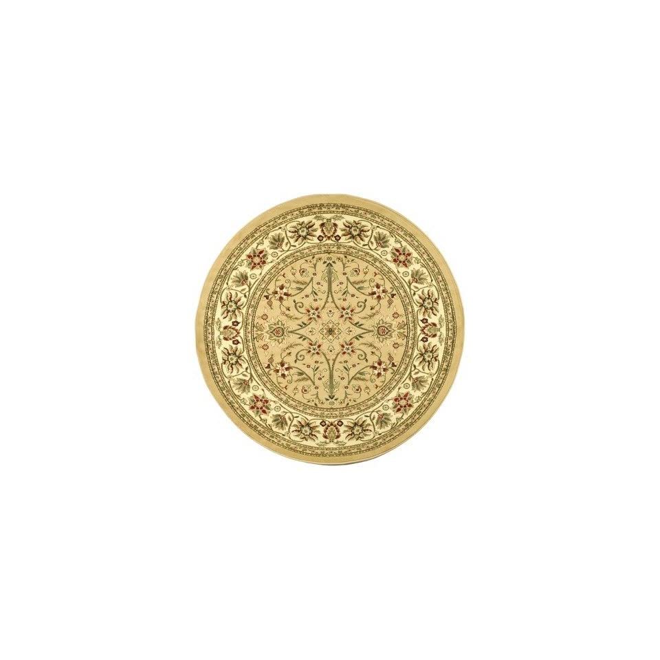 Safavieh Lyndhurst Collection LNH212D Traditional Oriental Beige and Ivory Round Area Rug (53 Diameter)