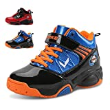 WETIKE Boy's Basketball Shoes Lace Up High-Top Sneaker Outdoor Trainers for Unisex Kids Durable Sport Shoes (Little Kid/Big Kid)