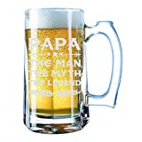 Giant Beer Mug 28 Ounces Beer Stein - Papa The Myth The Man The Legend