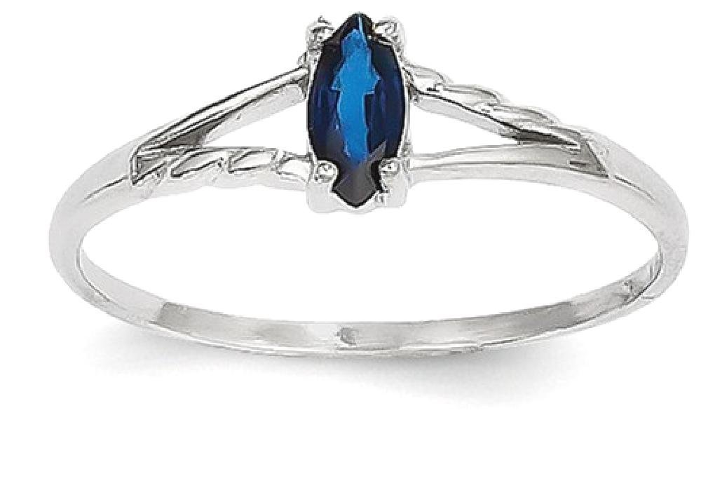 ICE CARATS 14k White Gold Sapphire Birthstone Band Ring Size 7.00 Stone September Marquise