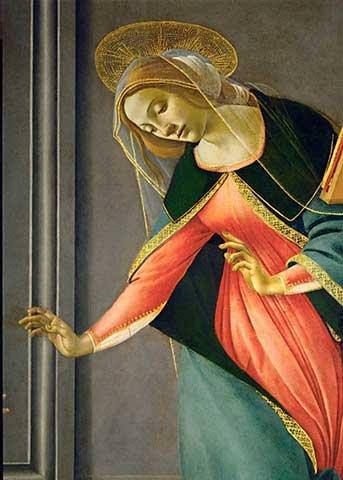 kunst für alle Art Print/Poster: Sandro Botticelli Annunciation Picture, Fine Art Poster, 19.7x27.6 inch / 50x70 - Botticelli Annunciation