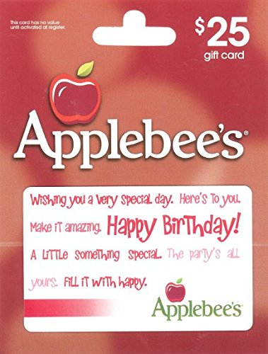 amazoncom applebees happy birthday 25 gift card gift cards - Happy Birthday Gift Card