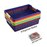 Magicfly Paper Organizer Basket, Pack of