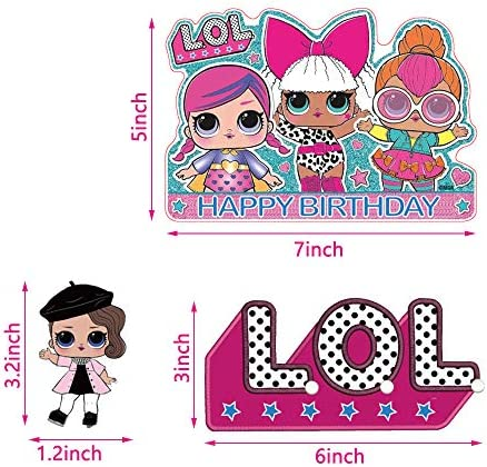 LOL Cake Topper for Birthday LOL WELL BUY LOL Cake Topper LOL Party Supplies