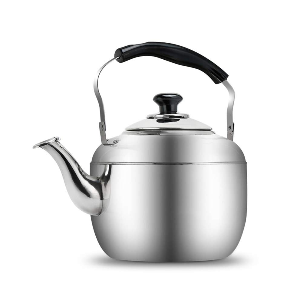 YJF 304 Brushed Stainless Steel Whistling Tea Kettle 3.6 Quart Stove Top Teapot