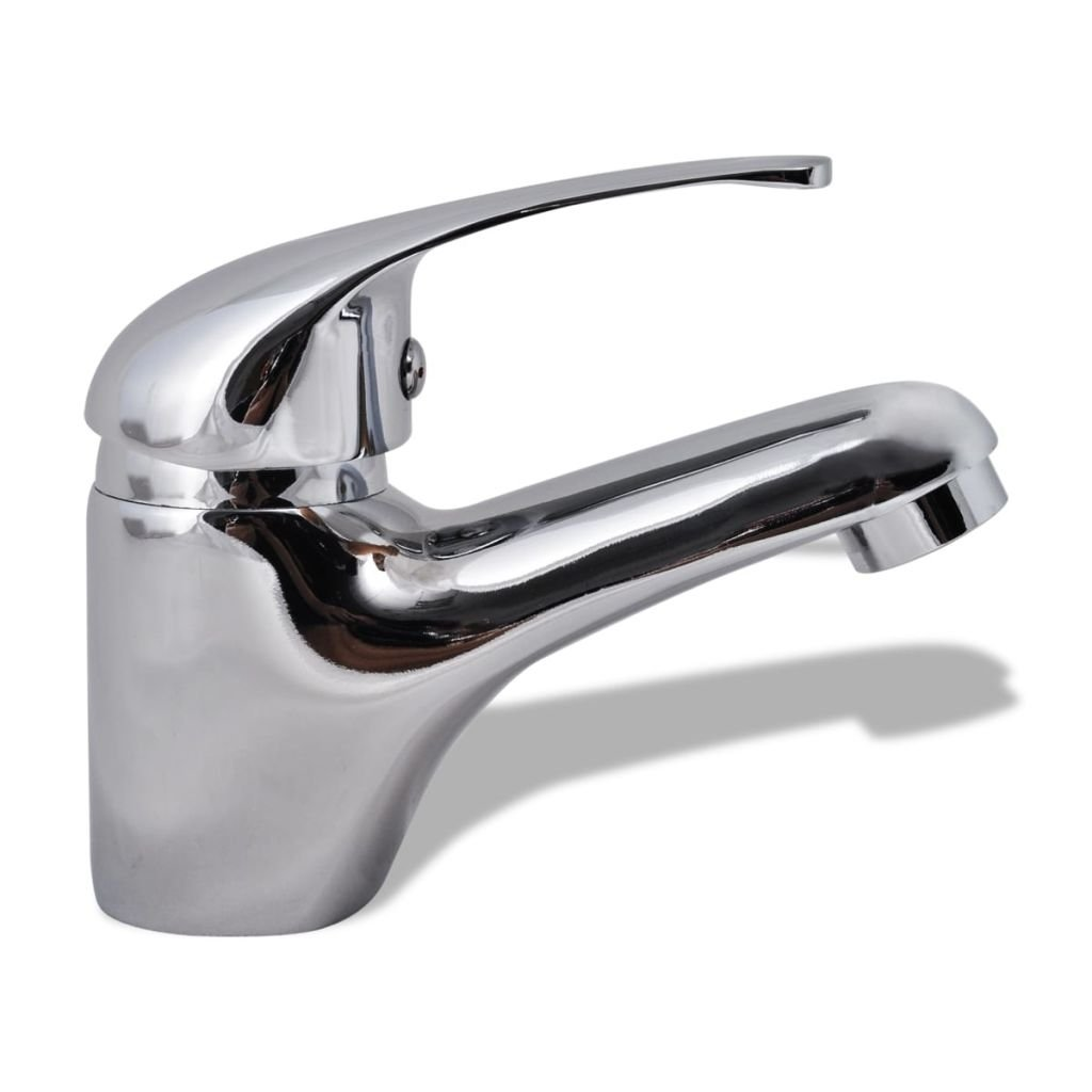vidaXL Robinet de Lavabo Chrome Toilette Salle de Bains Mitigeur de Vasque