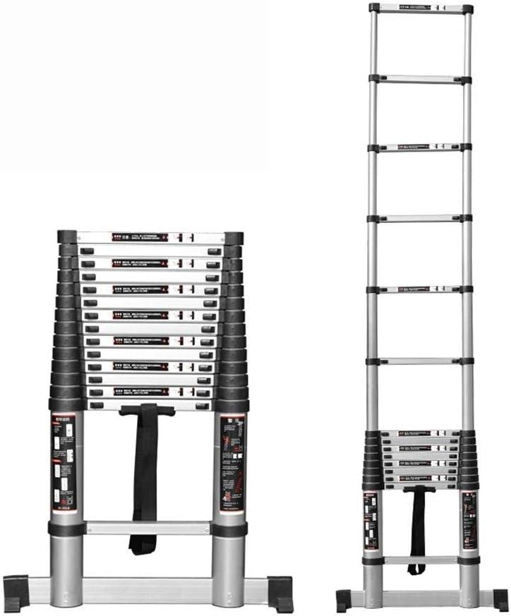 Escalera telescópica EN131 con Barra Estabilizadora - Escaleras De Extensión De Aluminio para Uso Doméstico Techo para Actividades Al Aire Libre RV Escaleras para Trabajo Pesado: Amazon.es: Hogar