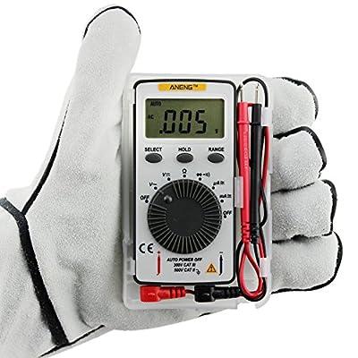 Pocket Mini LCD Digital Multimeter, Alloet Auto Range AC/DC Multimeter Voltmeter Tester Meter Auto Manual Range Selection