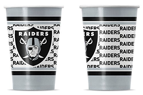 NFL Oakland Raiders Disposable Paper Cups by Duck House