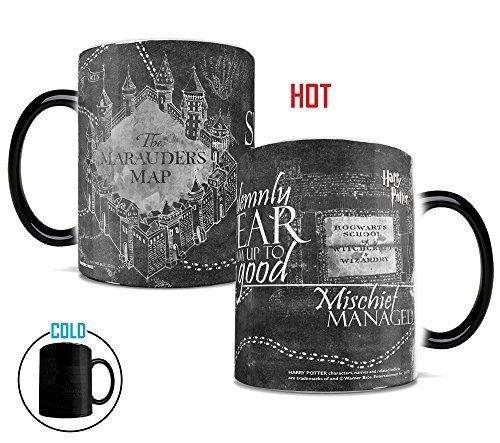 Morphing Mugs Harry Potter Hogwarts Magical Marauder's Map Heat Reveal Ceramic Coffee Mug – 11 Ounce