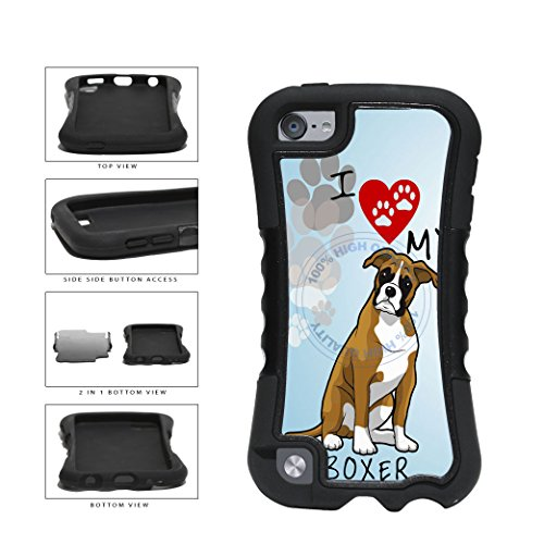 BleuReign(TM) I Love My Boxer Dog Lover 2-Piece - Ipod 5 Generation Snoopy Case