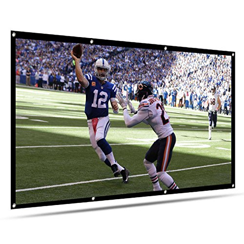 Projection Screen 120 inch 16:9 HD Foldable Anti-Crease Portable Projector Movies Screen for Home Theater Outdoor Indoor Support Double Sided Projection-VTOSEN by VTOSEN