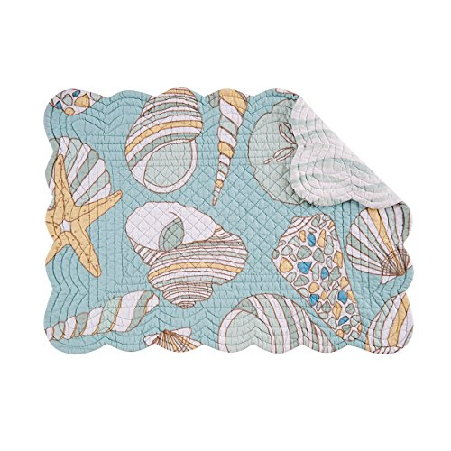 13X19 Quilted Scallop Placemat Cabana product image