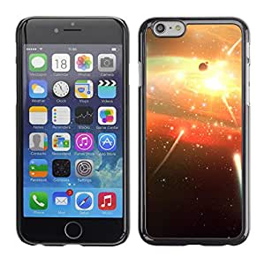 Planetar® ( Shooting Stars Firecrackers ) Apple iPhone 6 / 6S (4.7 inches!!!) Fundas Cover Cubre Hard Case Cover