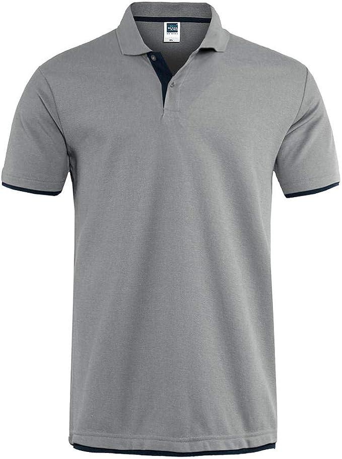LKTDM Polo para Hombre Marcas Ropa de Manga Corta Camisa de Verano ...