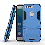 Mobile Phone Case, New 2 in 1 Iron Armour Tough Style Hybrid Dual Layer Armor Defender PC Hard Cases with Stand [Shockproof Case] for Huawei Honor 8 OnePlus 3 LG X Power ( Color : Blue , Size : Huawei Honor 8 )